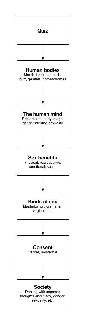 Subtopics sex education